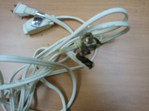 Counterfeit extension cords