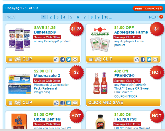 coupons.com savings club